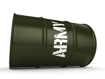 3D rendering army barrel Royalty Free Stock Image