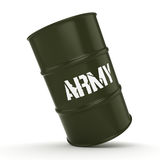 3D rendering army barrel Royalty Free Stock Photography