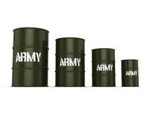 3D rendering army barrels Stock Image