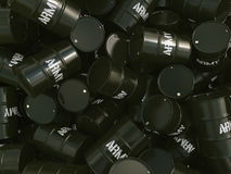 3D rendering army barrels Royalty Free Stock Image