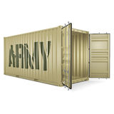 3D rendering army container Royalty Free Stock Photography