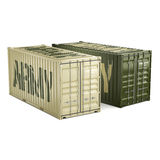 3D rendering army containers Stock Image