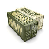 3D rendering army containers Stock Images