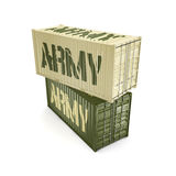 3D rendering army containers Stock Photography