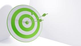 3d rendering arrows and bullseye. 3d rendering arrow and bullseye Stock Photos