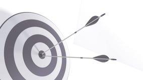 3d rendering arrows and bullseye. 3d rendering arrow and bullseye Stock Images