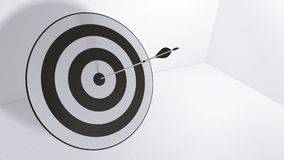 3d rendering arrows and bullseye. 3d rendering arrow and bullseye Royalty Free Stock Photography