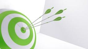 3d rendering arrows and bullseye. 3d rendering arrow and bullseye Stock Image