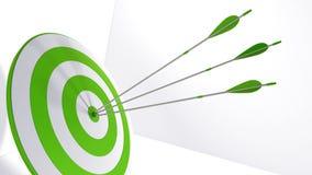 3d rendering arrows and bullseye. 3d rendering arrow and bullseye Royalty Free Stock Image