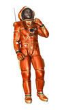 3D Rendering Astronaut on White Stock Photography