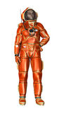3D Rendering Astronaut on White Royalty Free Stock Photos