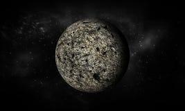 3D-rendering av månen Extremt detaljerad bild inklusive beståndsdelar Stock Illustrationer