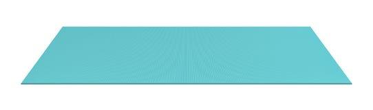 3d rendering błękit staczająca się out joga mata na białym tle ilustracja wektor