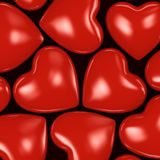 3D rendering background of hearts Royalty Free Stock Images