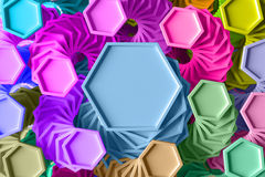 3d rendering background with repeating geometric figures that has a twirl rotation. Abstract 3d rendering background with repeating geometric figures that has a Royalty Free Stock Images
