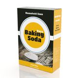 3D rendering of Baking Soda paper packaging. On white background Royalty Free Stock Images