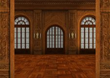 3D Rendering Ballroom Stock Images