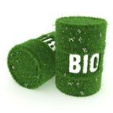 3D rendering barrel of biofuels Royalty Free Stock Image