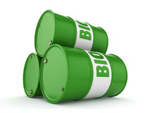 3D rendering barrel of biofuels Stock Image
