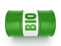 3D rendering barrel of biofuels Royalty Free Stock Photo