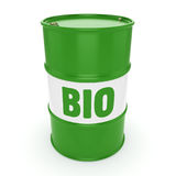 3D rendering barrel of biofuels Royalty Free Stock Photo