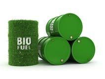 3D rendering barrels of biofuels Stock Images