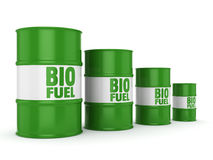3D rendering barrels of biofuels Royalty Free Stock Photography