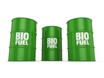 3D rendering barrels of biofuels Stock Photos