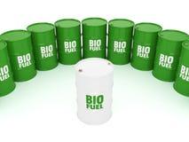 3D rendering barrels of biofuels Stock Photo