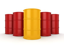3D rendering barrels Stock Photo