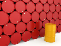 3D rendering barrels Stock Image