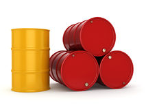 3D rendering barrels royalty free illustration