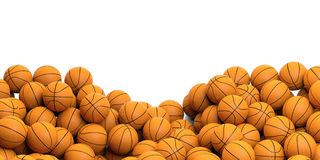 3d rendering basket balls background. With copy space Stock Images