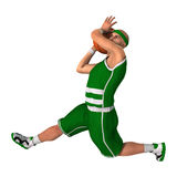 3D Rendering Basketball Player on White. 3D rendering of a male basketball player isolated on white background Royalty Free Stock Photography