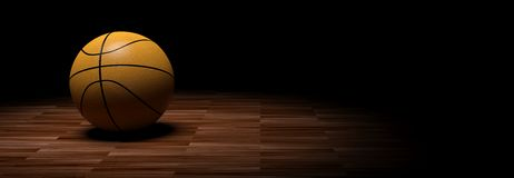 3d rendering basketball on wooden background. 3d rendering basketball on wooden floor background Royalty Free Stock Photography