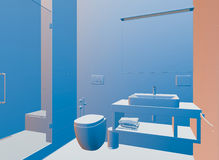 3D rendering of bathroom Stock Photography