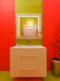 3D rendering of a bathroom interior design for children. Royalty Free Stock Photography