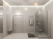 3D rendering of a bathroom interior design for children. Stock Images