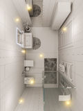 3D rendering of a bathroom interior design for children. Royalty Free Stock Image
