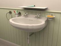 3D rendering bathroom Stock Photography