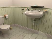 3D rendering bathroom. Bathroom scene created by CG program Royalty Free Stock Images