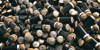 3d rendering batteries background. 3d rendering alkaline batteries background Royalty Free Stock Images