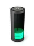 3D rendering. Battery load icon. On a white background royalty free illustration