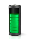 3D rendering. Battery load icon. On a white background stock illustration