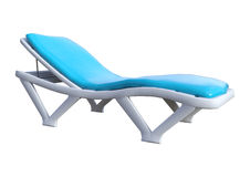 3D Rendering Beach Chair on White. 3D rendering of a beach chair isolated on white background Royalty Free Stock Photo