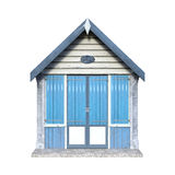 3D Rendering Beach Hut on White Stock Photo
