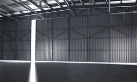 3d rendering beautiful empty warehouse Royalty Free Stock Photos