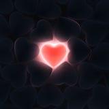 3D rendering beautiful glowing heart Stock Photo