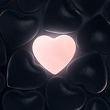 3D rendering beautiful glowing heart Royalty Free Stock Photo