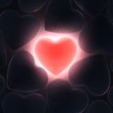 3D rendering beautiful glowing heart Royalty Free Stock Image